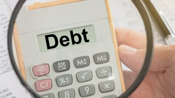 Debt showing up on a calculation