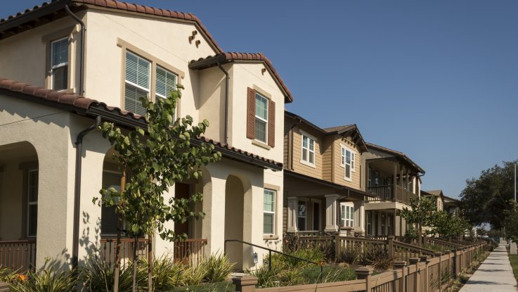 Row of beautiful homes
