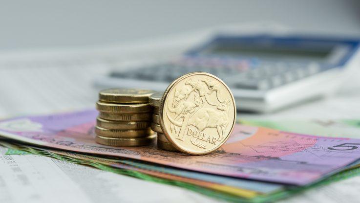 Coins over paper bills