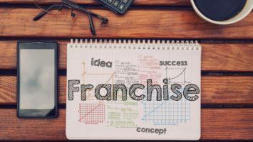 franchise written on a notebook