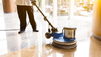 Commercial Cleaning of a Floor