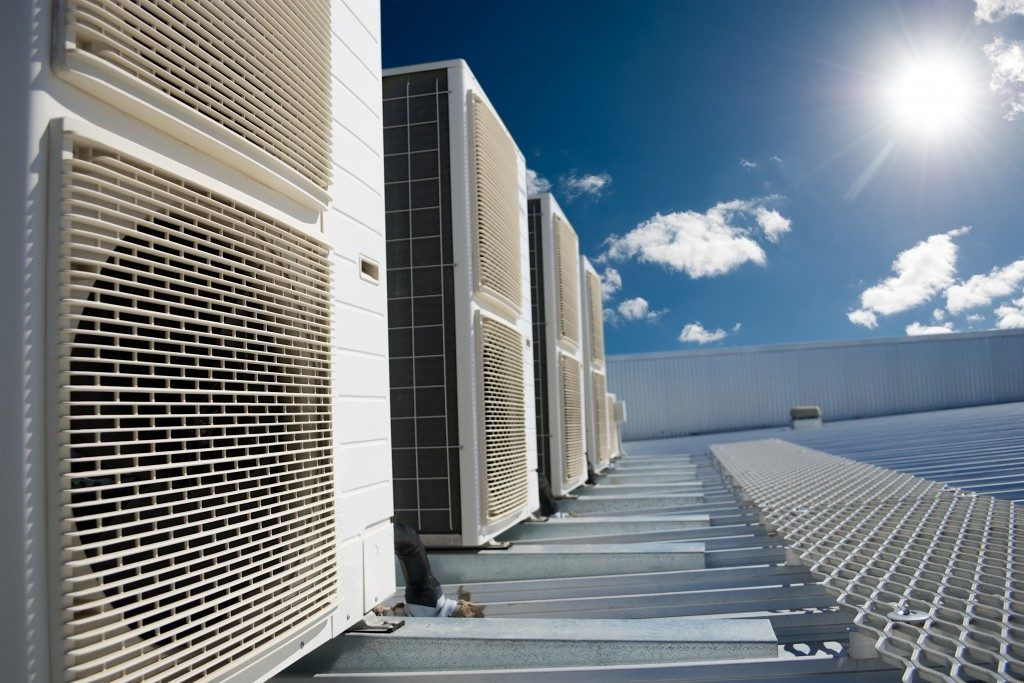 Commercial HVAC on Top of the Roof