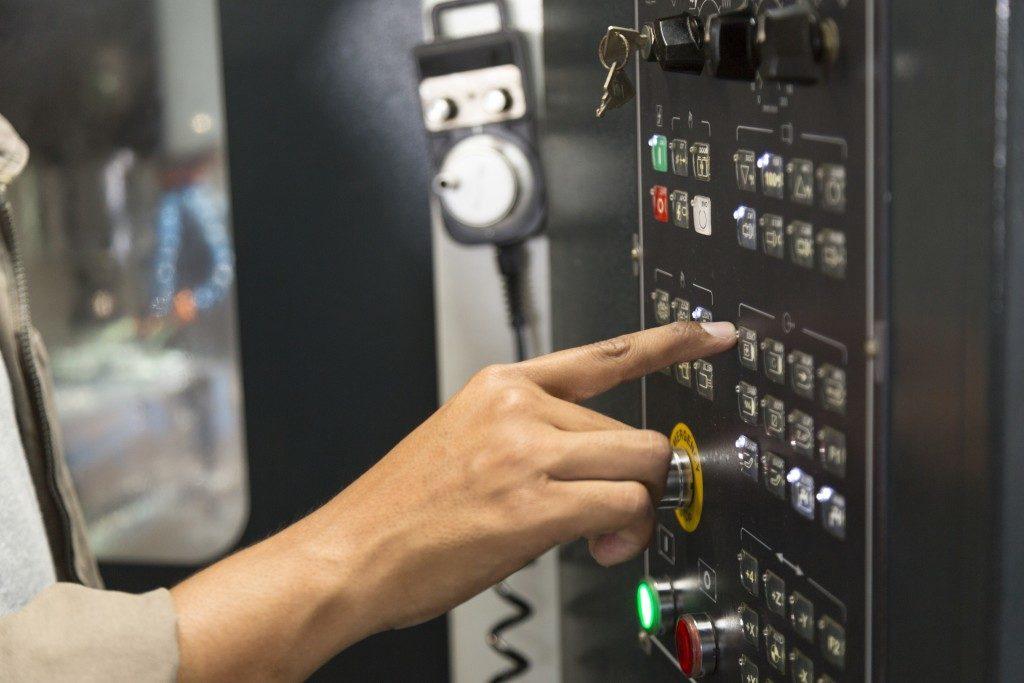 man operating a communicationsdevice