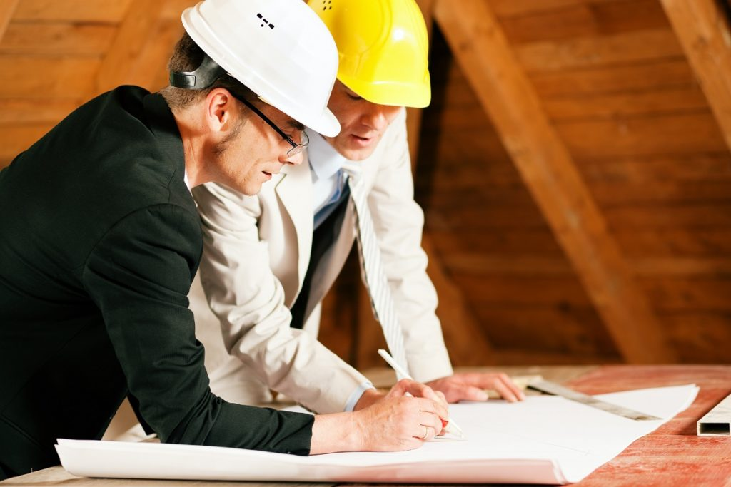 Contractor and businessman discussing project
