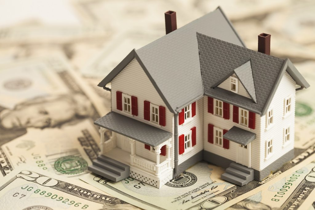 house and dollar bills