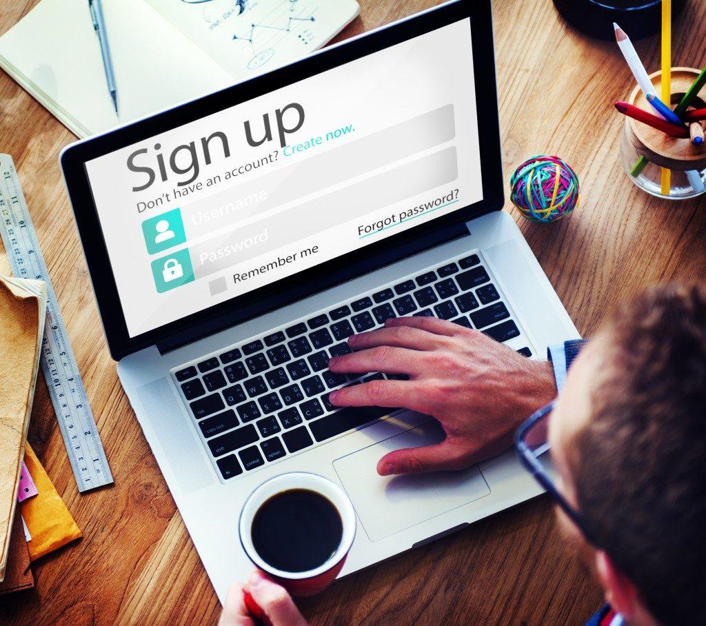 online sign up