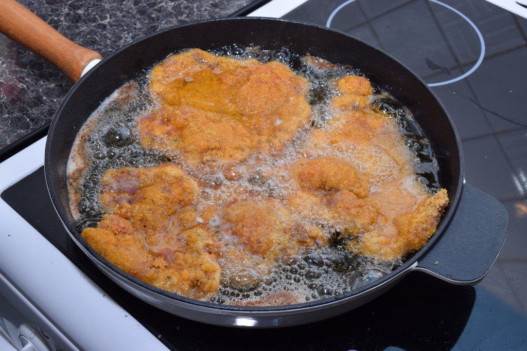 fried chicken in a pan