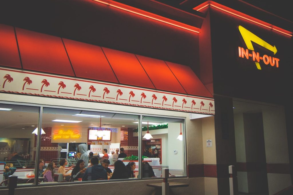In N Out restaurant