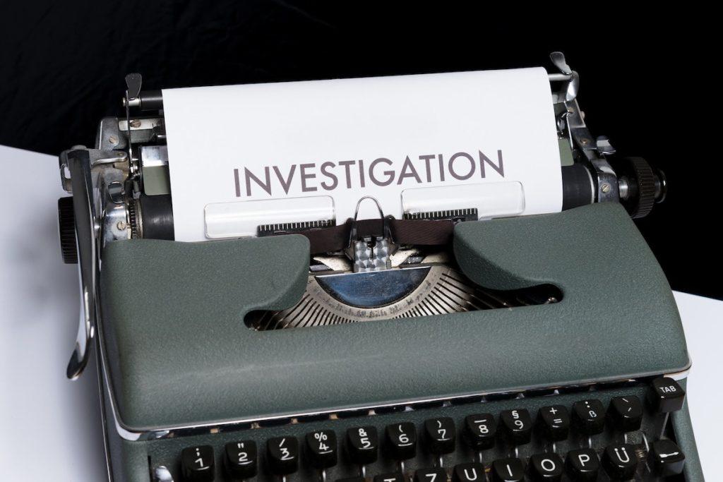 investigation paper on typewriter